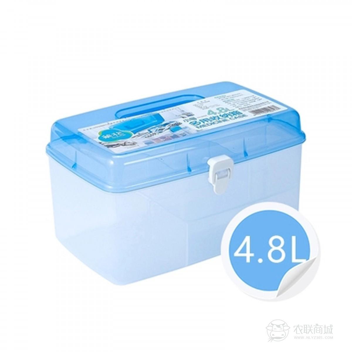 茶花医药箱家庭 小号 医要箱药品收纳盒车载医疗箱家用薬多层隔层