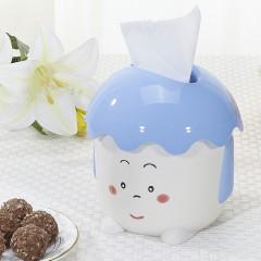 茶花 抽纸筒 塑料家用创意可爱卡通客厅餐厅纸巾盒厕所卫生间抽纸盒