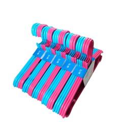 茶花塑料衣架加厚成人防滑衣架衣撑干湿两用挂衣架 2组装 6支*2