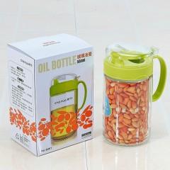 茶花油壶玻璃防漏油壶厨房不漏油油瓶调味瓶酱油瓶醋瓶 小号450ML