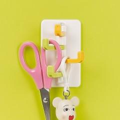 茶花粘钩强力承重厨房浴室挂钩卫生间门后瓷砖墙壁无痕塑料挂钩