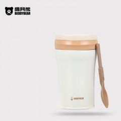 韩国杯具熊不锈钢保温饭盒焖烧壶焖烧杯 纯色杯 520ML