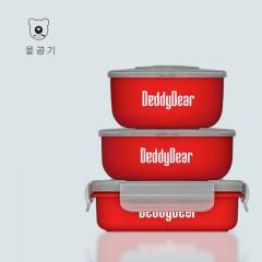 杯具熊beddybear316不锈钢儿童餐具宝宝防摔碗吸盘碗辅食碗勺套装6件套