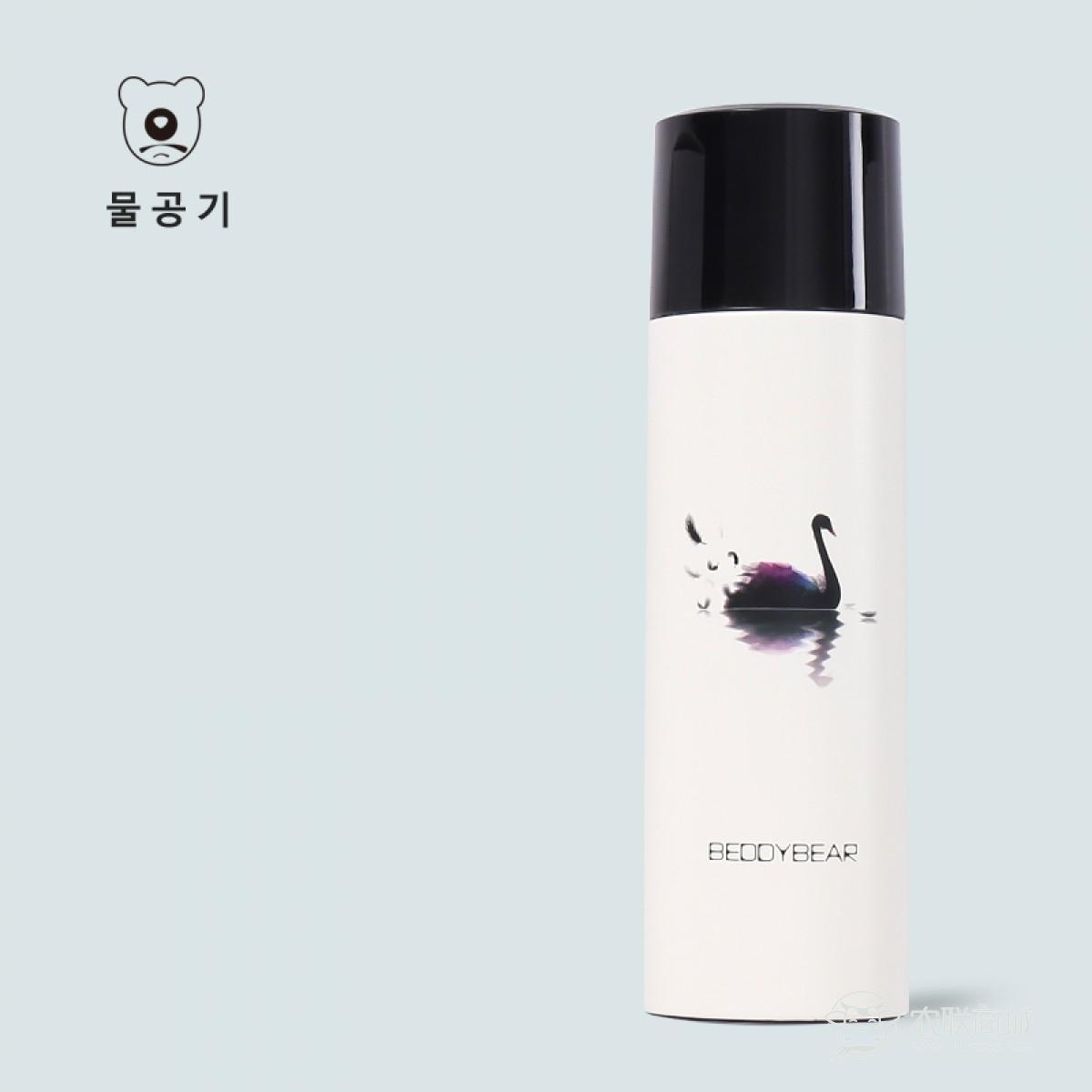 韩国杯具熊新款木槿花保温杯黑天鹅男女士学生不锈钢轻便携水壶480ML