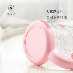 韩国杯具熊玻璃杯过滤双层隔热防烫水杯男女学生便携家用可爱水杯320ML