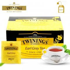 英国Twinings川宁格雷伯爵红茶茶叶50片/盒   包邮