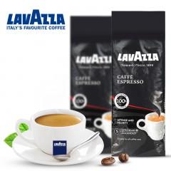 意大利乐维萨LAVAZZA意式浓缩咖啡豆250g克进口现磨黑咖啡豆粉 LAVAZZA咖啡   包邮