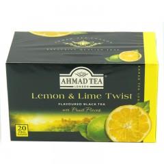 英国AHMADTEA亚曼柠檬香柠味红茶40g/20片 袋泡茶  包邮
