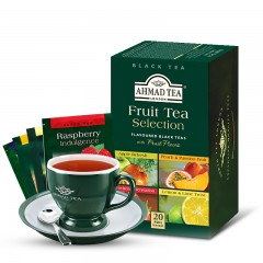 英国AHMADTEA亚曼精选果味红茶40g/20片多口味水果袋泡茶  包邮